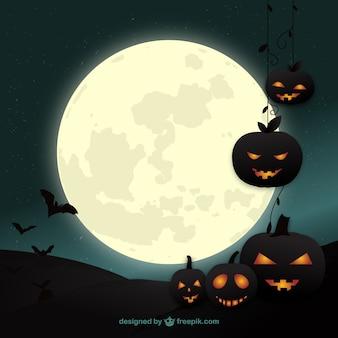 Fondo de Halloween con calabazas