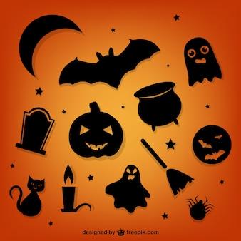 Pack de siluetas de Halloween
