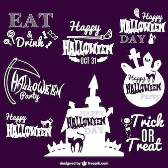 Colección de insignias de Halloween