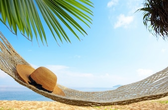 Hamaca al lado de la playa