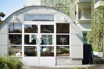 Hamburguesas orgánicas restaurante