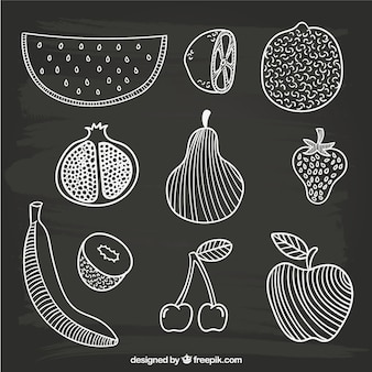 frutas dibujados a mano