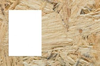 Hang cartón cuarto de madera