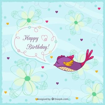 Tarjeta de felicitación del feliz cumpleaños