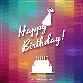 Tipografía de feliz cumpleaños con fondo abstracto