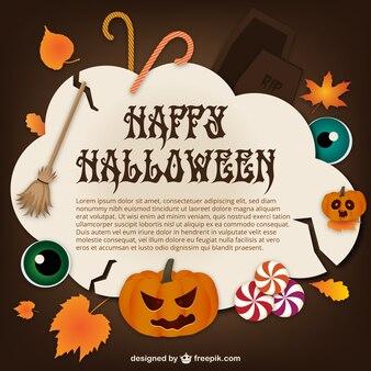 Plantilla de feliz Halloween