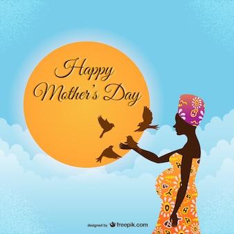 Feliz día de la madre estilo africano