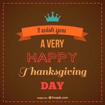 Rótulo vintage de feliz Acción de Gracias