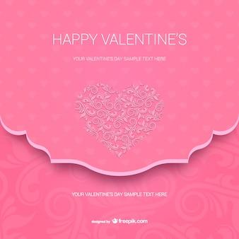 Plantilla de tarjeta de Feliz San Valentín