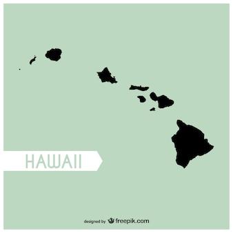 Vector mapa de Hawai