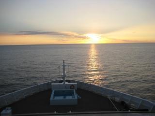 Hawaii puesta de sol puesta de sol barco