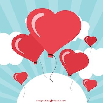 Globos en forma de corazón