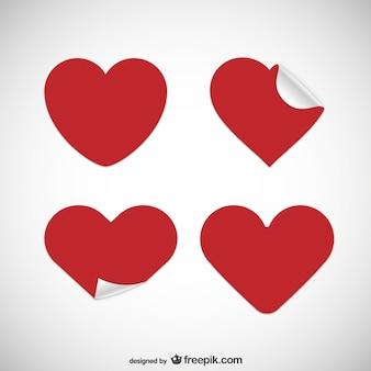 Pegatinas en forma de corazón