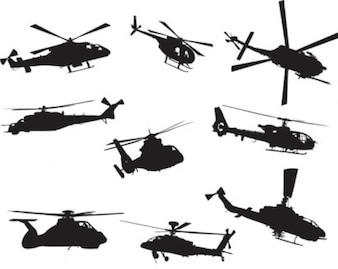 helicópteros de la acción de cobro