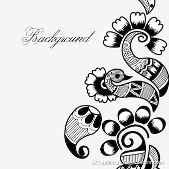 Henna arte conjunto de vectores