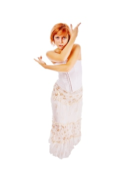 Hermosa bailarina roja