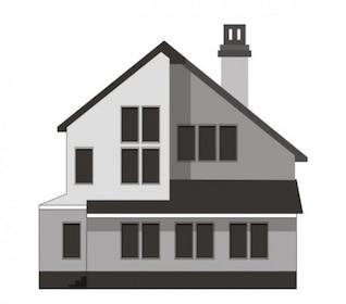Hermosa casa con muchas ventanas