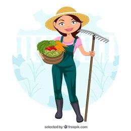Hermosa jardinero