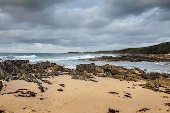 Hermosa playa en Cabo Conran, Australia.