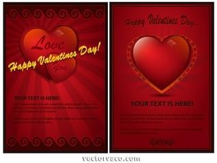 Hermosa tarjeta del día de San Valentín Maroon