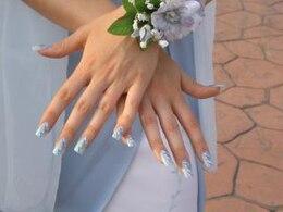 hermosas manos en azul