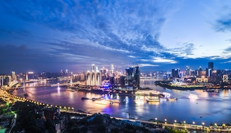Hermoso paisaje de la ciudad, en Chongqing, China