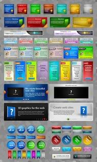 hermosos elementos de diseño web web psd material en capas