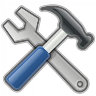 herramientas, martillo, llave inglesa