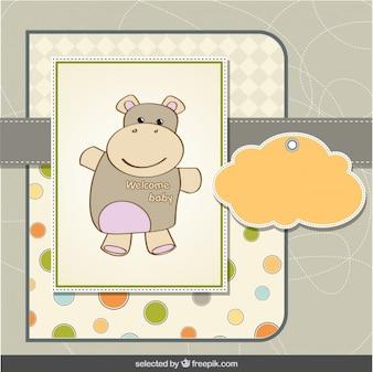 Hipopótamo del bebé tarjeta de ducha