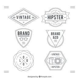 Hipster escudos colección