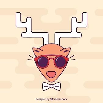 Vector ciervo hipster