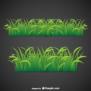 Hojas de hierba de vector