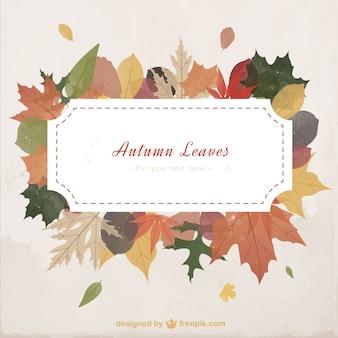 Hojas de otoño plantilla