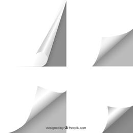 Hojas de papel en blanco