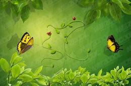 hojas verdes vides psd nuevo material en capas emitió