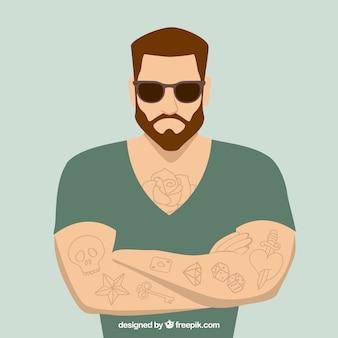 Hombre con tatuajes