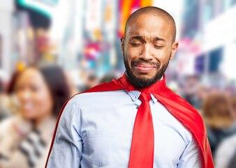 Hombre de negocios negro expresión triste