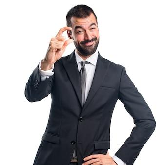 Hombre de negocios, pequeño, señal