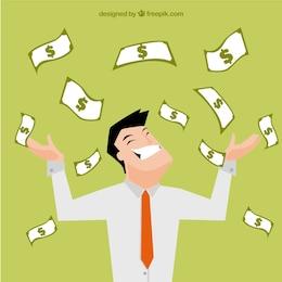 Hombre de negocios rico ilustración