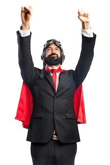 Hombre de negocios super héroe