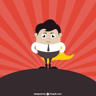 Hombre de negocios superheroe
