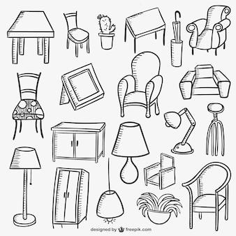 Colección de muebles del hogar