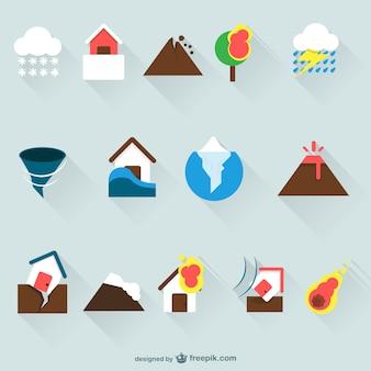 Iconos de seguros del hogar