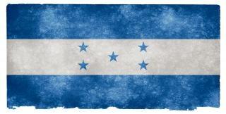 Honduras grunge bandera