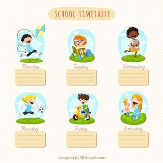 Horario de la escuela
