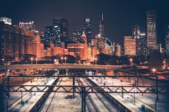 Horizonte de Chicago y ferrocarril