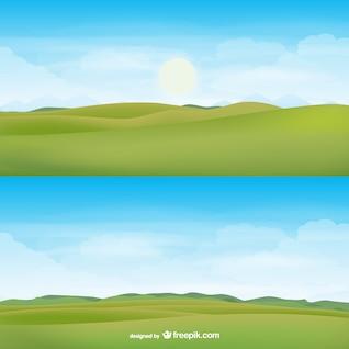 Horizonte vector paisaje