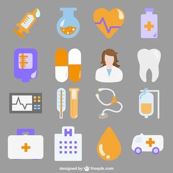 Vectores iconos de hospital