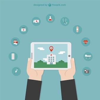 Ilustración de ubicación de servicios médicos