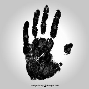 Huella de la mano Negro